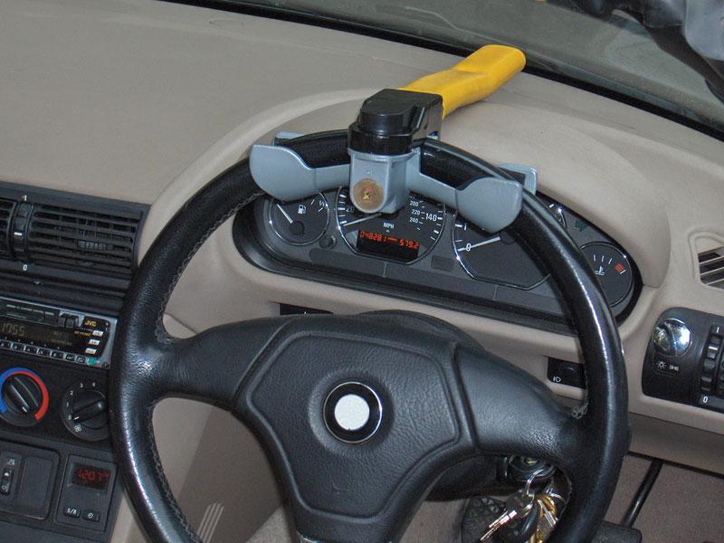 accessoires et pi ces canne antivol rotative pour volant jaune. Black Bedroom Furniture Sets. Home Design Ideas